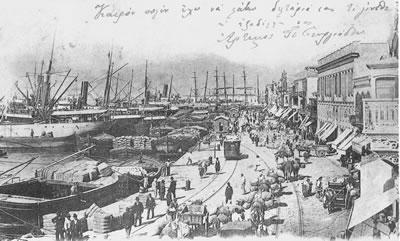 <p><strong>9.</strong> İzmir Rıhtımındaki ticaret  hareketliliği<br />  Kaynak: Kolektif, 2004, s.  65.</p>