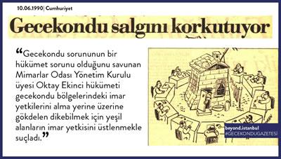 <p><strong>9. </strong>&ldquo;Salgın&rdquo; Olarak Nitelenen  Gecekondular<br />  Kaynak:  Beyond İstanbul</p>