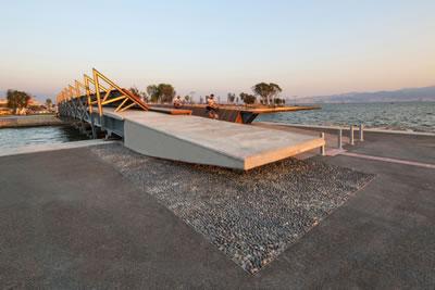 <p><strong>9.</strong> Bostanlı Yaya Köprüsünün bitiş  noktası<br />   Kaynak:  Stüdyo Evren Başbuğ</p>