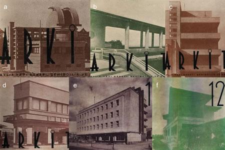 <p><strong>9.</strong> Modernist estetiğin yüksek  kontrastlı fotoğraflarla vurgulanması, (a) <em>Arkitekt </em>1936/4; (b) <em>Arkitekt </em>1936/7; (c) <em>Arkitekt</em> 1936/8; (d) <em>Arkitekt </em>1937/1; (e) <em>Arkitekt</em> 1938/1; (f) <em>Arkitekt </em>1938/12</p>