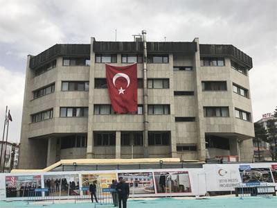 <p><strong>9.</strong> Yapının güney cephesi fotoğrafı<br />   Fotoğraf:  Mustafa Gülen</p>