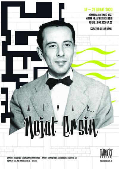 """<p><strong>9.</strong> """"Mimar Nejat  Ersin"""" sergi afişleri. Tasarım: Nazlı Deniz Oğuz, Ka Fotoğraf Geliştirme  Atölyesi</p>"""