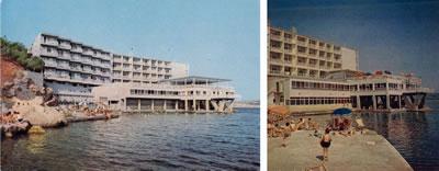 <p><strong>9. </strong>Grand Hotel Bayramoğlunun 1970 li yıllara ait eski  fotoğrafları<br /> Kaynak: (sol)  Aynur Çiftçi Arşivi, 2016; (sağ) Yarbağ, 1969, s.9.</p>