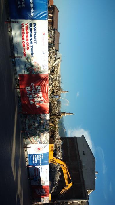 <p><strong>9. </strong>Bursa Merkez Bankası binasının  yıkılmasının ardından alanın görünümü<br /> Fotoğraf: Gürkan Okumuş</p>