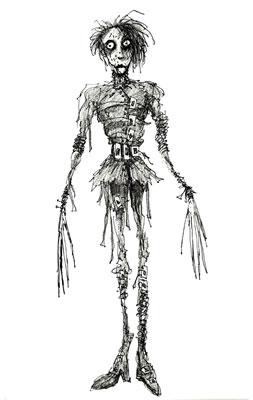 <p><strong>9. </strong>2009 yılında MOMA'da  gerçekleştirilen Tim Burton sergisinden Burton'ın Edward ve Penguen karakteri  çizimleri <br />(Kaynak: URL4)</p>