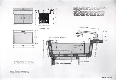 <p><strong>9c.</strong> Önder Küçükermanın proje için  ürettiği detay çizimleri<br />Kaynak: Önder Küçükerman  arşivi</p>