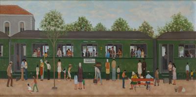 <p><strong>9. </strong>Nedim Günsürün (1924-1994) çizimlerinde  demiryolları, Yeşil Tren, Istanbul - Frankfurt ve Haydarpaşa<br /> Kaynak: Sönmez, 2016</p>Kaynak: URL3</p>