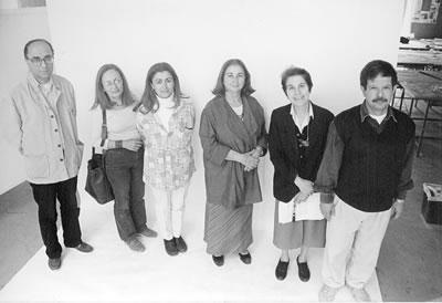 Emre Madran, ODTÜ Mimarlık Bölümü Restorasyon Ana Bilim Dalı hocaları ile birlikte (© Emrah Köşkeroğlu)