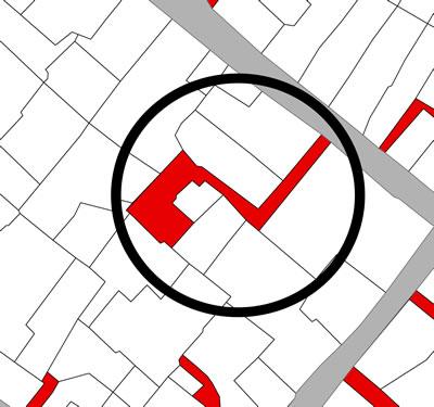 <p><strong>Harita  11(a).</strong> Orhanlı  Mahallesi&rsquo;nde bulunan özel çıkmaz sokakta konumlanan ziyaret, 2010</p>