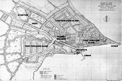 <p><strong>Harita 1.</strong> 1950 Yılı Gerze İmar  Planı <br />  (Kaynak: Çizer, 1951)</p>