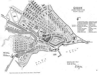 <p><strong>Harita 2.</strong> 1956 Yılı Gerze İmar  Planı <br />  (Kaynak: Wagner, 1956)</p>