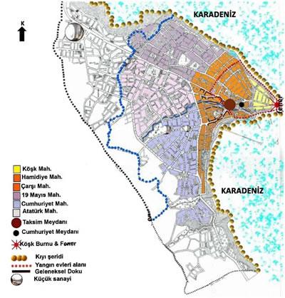 <p><strong>Harita 3.</strong> Günümüzdeki Gerze <br />  (Kaynak: Yerebasmaz, 2006)</p>