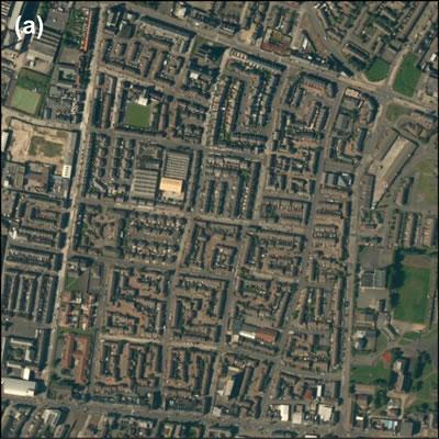 <p><strong>Harita </strong><strong>2. </strong>Belfast doku  görüntüleri: (a) etnik konut mekânları<br />Kaynak: ESRI Imagery, 2014