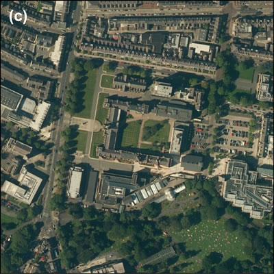 <p><strong>Harita </strong><strong>2.</strong> Belfast doku  görüntüleri: (c) paylaşılan üniversite alanları, Queen's University Belfast<br />  Kaynak:  ESRI Imagery, 2014  <br />