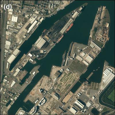 <p><strong>Harita </strong><strong>2.</strong> Belfast doku  görüntüleri: (d)  kozmopolitan mekânlar, Titanic Quarter<br />  Kaynak:  ESRI Imagery, 2014  <br />