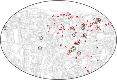 6. Çalışma alanı ve tespit edilen konutlar