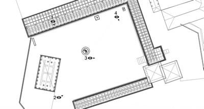 <p><strong>Şekil 3.</strong> Athena Tapınağı ve  Kutsal Alanı bakı noktaları<br />  Kaynak: Bergama Belediyesinden Fatih Kurunaz tarafından hazırlanmıştır. </p>